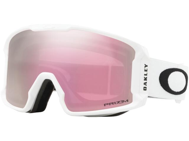 Oakley Line Miner XM Lunettes de ski Femme, matte white/w prizm snow hi pink iridium